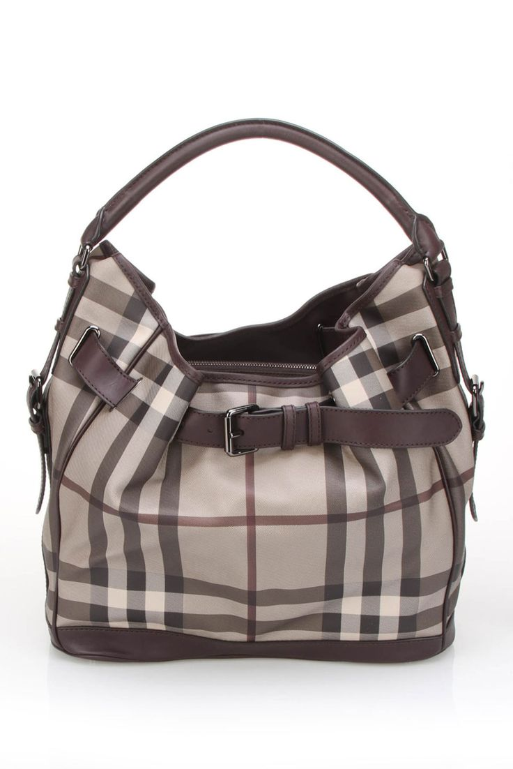 Burberry Smoked Check Medium Waldan Hobo In Plum - michaelkors-price.at.tf Michaelkor is