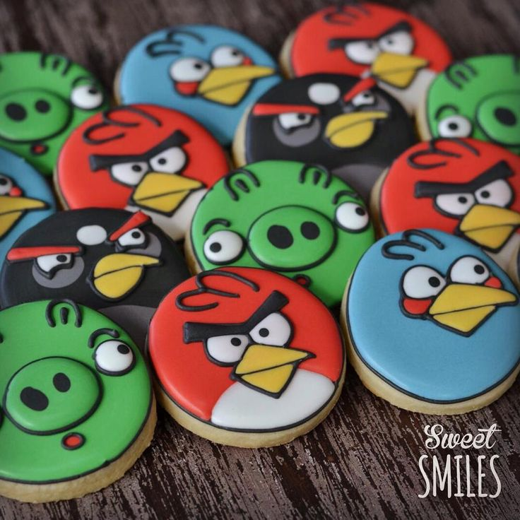 Angry Birds! | Decorated Sugar Cookies