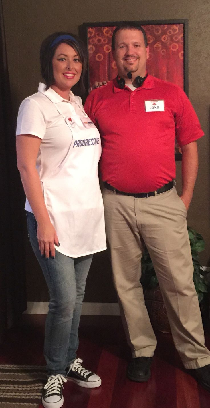 Flo & Jake from State Farm. DIY couples costume