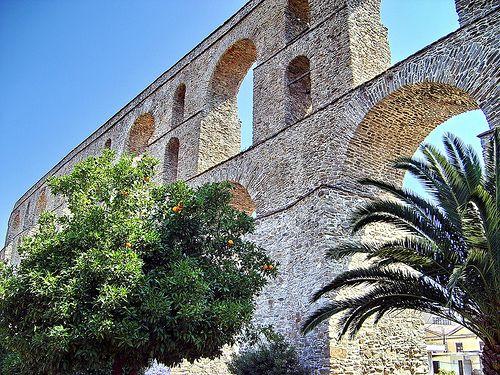 The aqueduct of Kavala, Macedonia, Greece