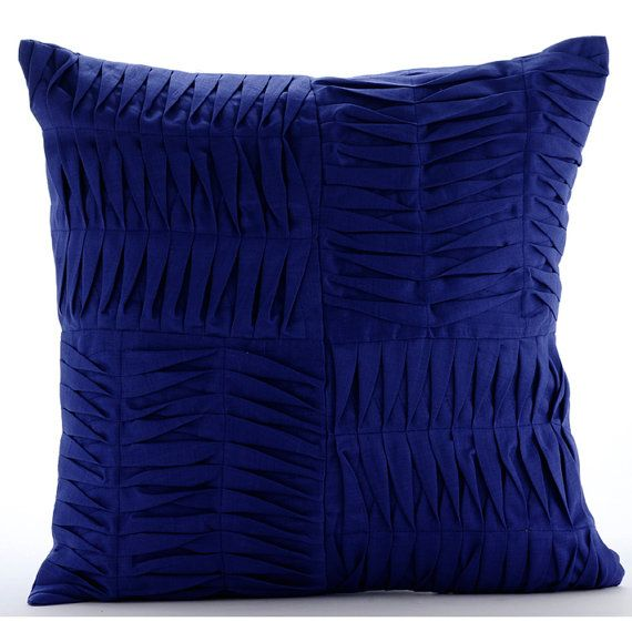Blue Throw Pillows Cover For Couch  Square  by TheHomeCentric