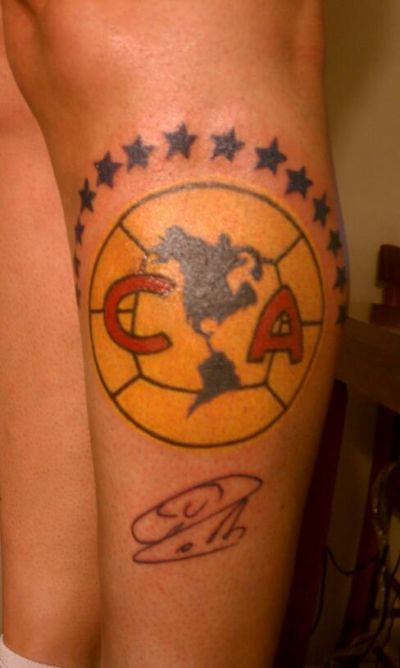 Club America Tattoo | Tatuaje: Escudo del Club America ...
