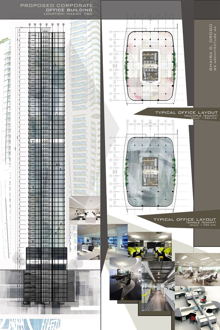 Design 8 proposed corporate office building high rise for Office interior plan