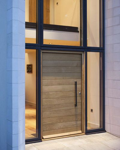 Pivoting entry door / oak / insulated / acoustic - PARMA E80 - Urban Front