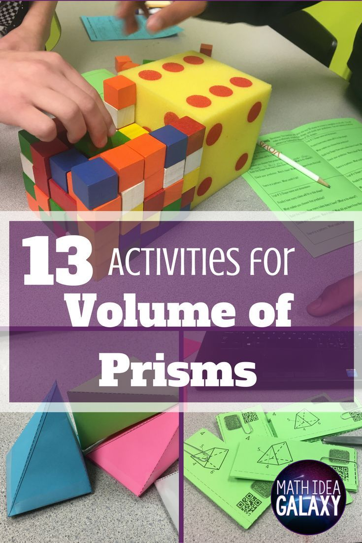 Check out all 13 fun & engaging activities for teaching volume of prisms. Includes print and go resources, online tools, and hands-on activity ideas.
