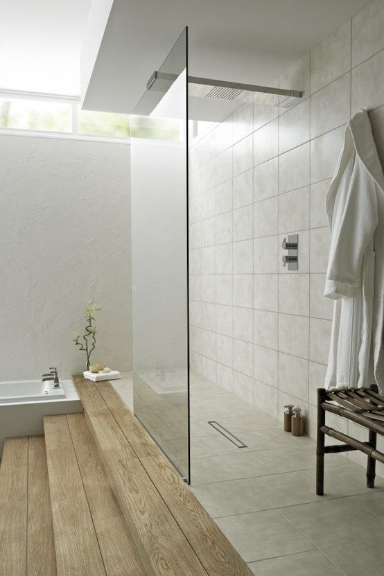 38 best bathrooms images on pinterest bathroom ideas for Walk through shower plans