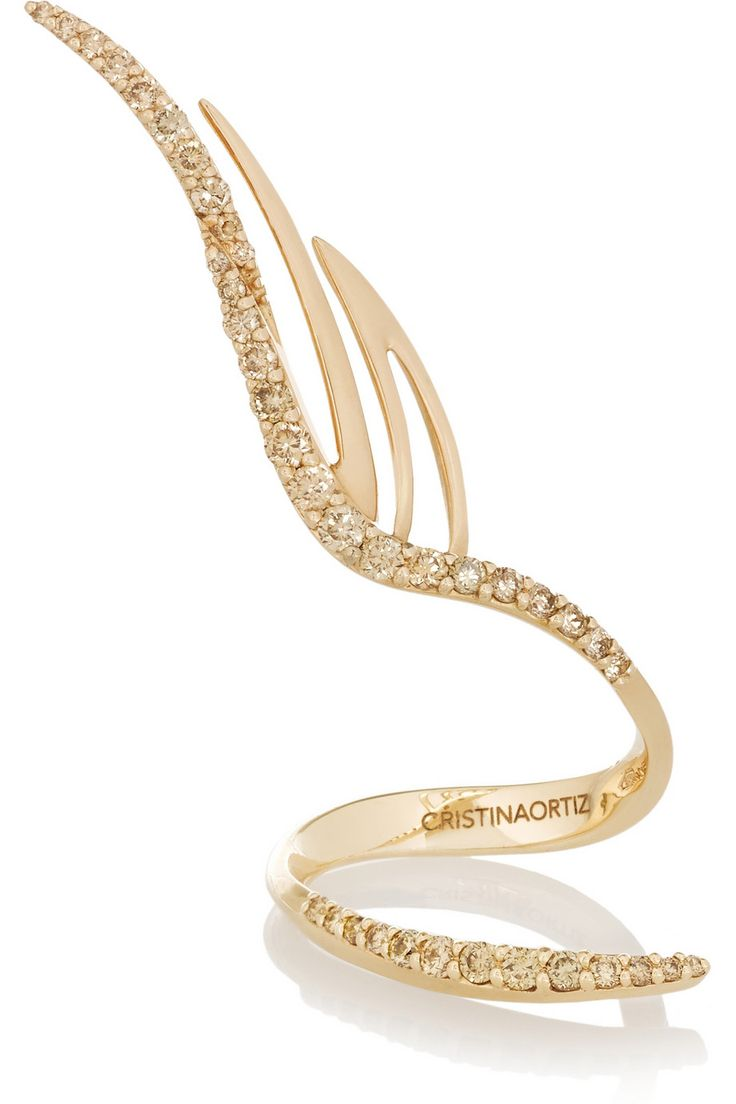CristinaOrtiz | 9-karat rose gold diamond ring