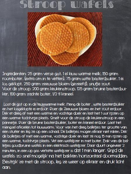 Stroop wafel recept.