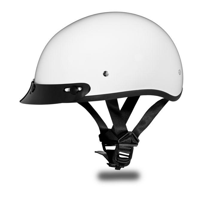 International Biker Mall  - D.O.T. DAYTONA SKULL CAP Helmet- HI-GLOSS WHITE, $49.95 (http://www.internationalbikermall.com/d-o-t-daytona-skull-cap-helmet-hi-gloss-white/)