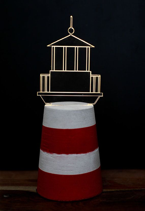 LIMITED EDITION nautical set Lighthouse Lamp by SturlesiDesign