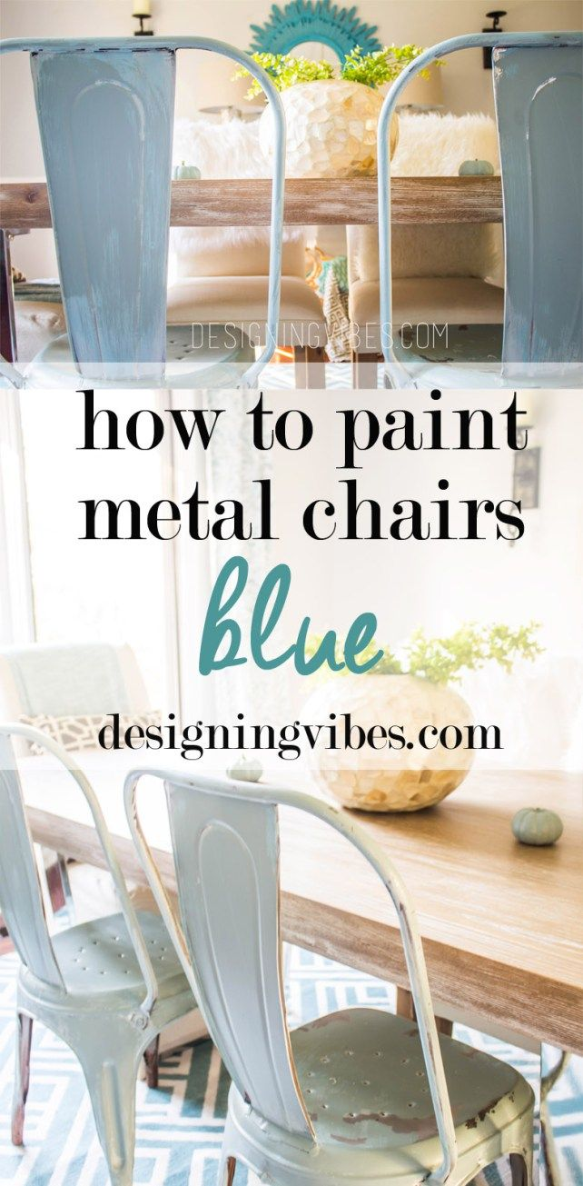 How to paint metal chairs how tos diy - How To Paint Metal Chairs Blue