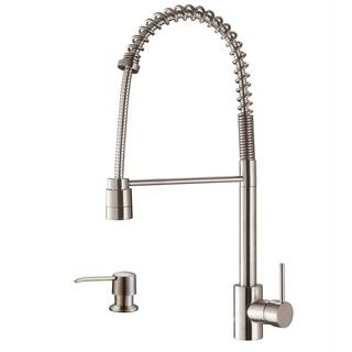 Ruvati Stainless Steel Commercial Style Kitchen Faucet with Soap Dispenser - 15296220 - Overstock.com Shopping - Great Deals on Ruvati Kitchen Faucets