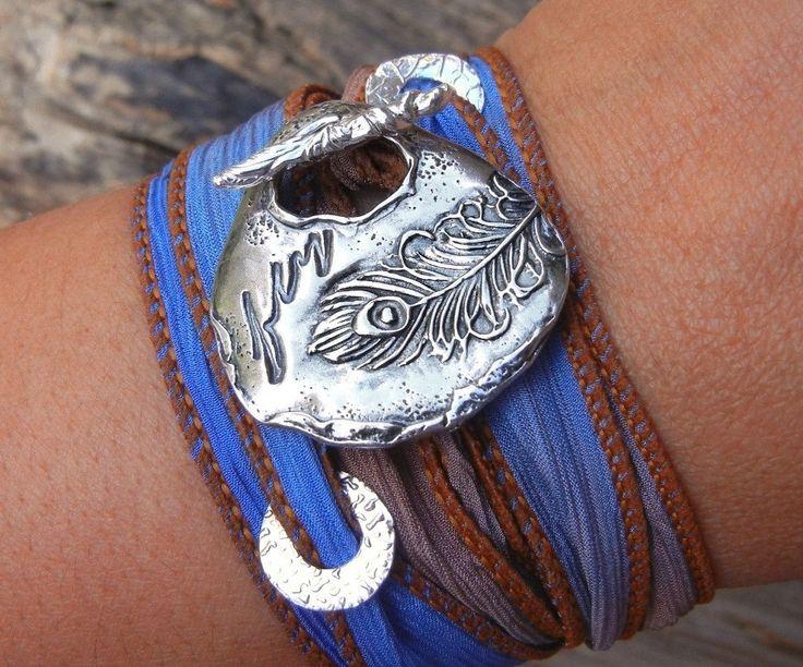 Bijoux+de+plume+de+paon+paon+bijoux+Bracelet+de+par+HappyGoLicky,+$49,95