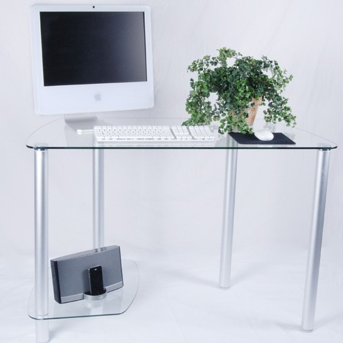 Best 25 clear desk ideas on pinterest glass desk glass for Small clear desk
