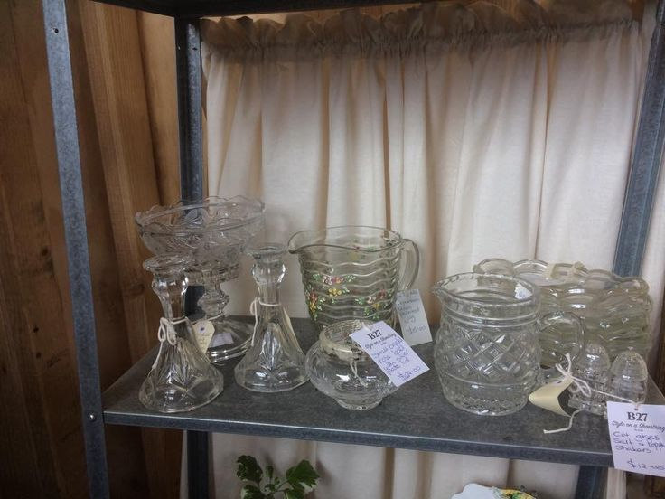 Lovely depression cut glass at my stall
