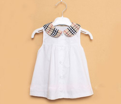 FREE SHIPPING Burberry Plaid Baby Girls Cotton Dress, 6-24 Months | EmeseBoutique - Children's on ArtFire