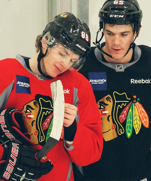 Patrick Kane and Andrew Shaw