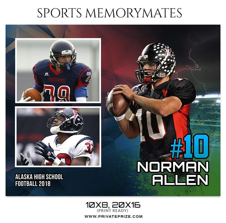 NORMAN ALLEN FOOTBALL SPORTS MEMORY MATE