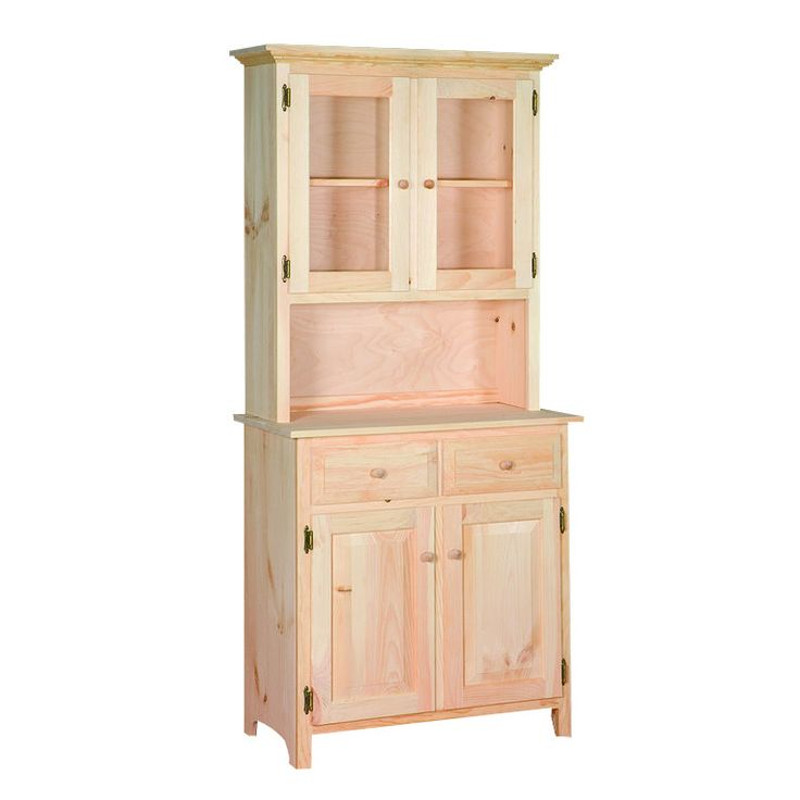 sunnyside two drawer four door china cabinet  pine wood
