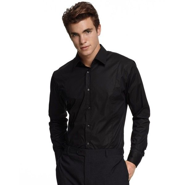 "HUGO ""Eneor"" Button Up Sport Shirt ($109) ❤ liked on PolyvoreSports Shirts, Shirts 109"