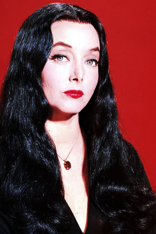 Carolyn Jones as Morticia Addams on The Addams Family c. 1960s