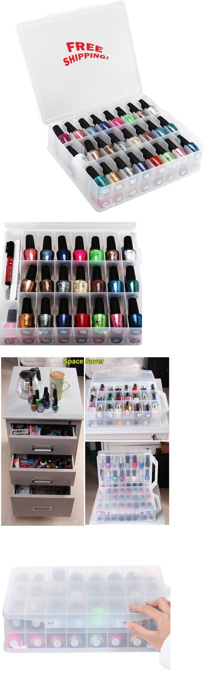 Nail Practice and Display: Carry Case Nail Polish Diy Holder Storage 48 Bottles Organizer Makeup Container -> BUY IT NOW ONLY: $34.34 on eBay!