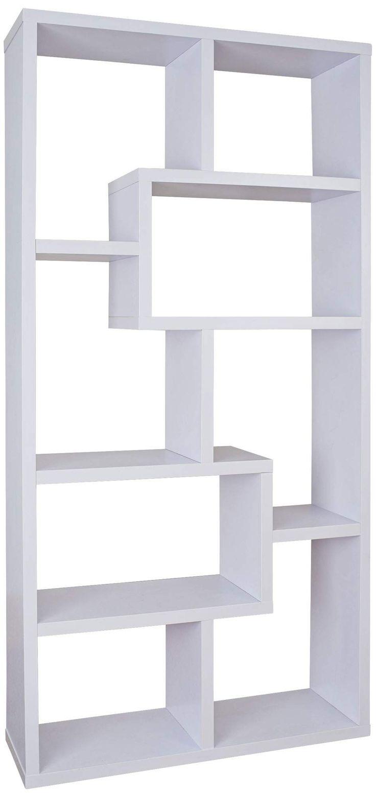 Reena White Wood Open Geometric Bookcase - #1V991 | Lamps Plus