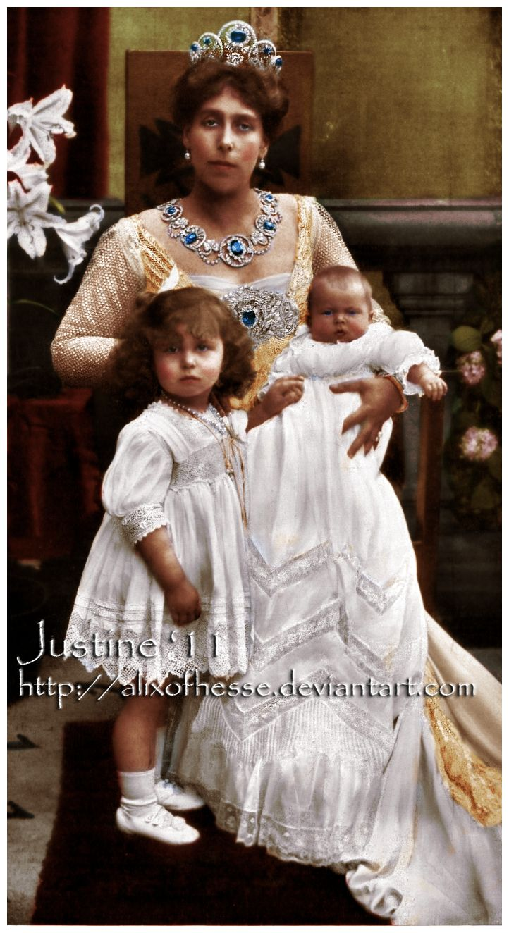 Victoria Melita or  Grand Duchess Victoria Feodorovna with her daughters from…