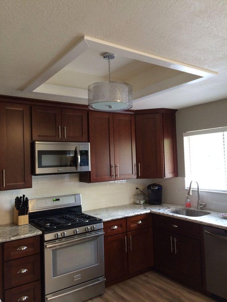 remodel flourescent light box in kitchen - Bing images