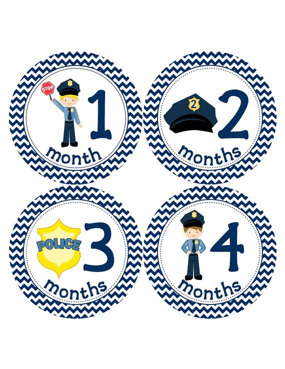 ON SALE Police Baby Month Stickers  Month to by BuddhaBellies, $8.50