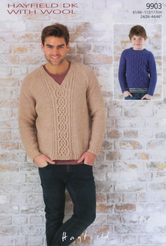 V-Neck & Round Neck Sweaters | Knitting Fever
