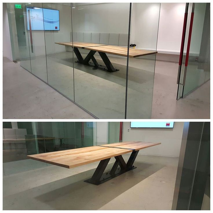 Custom 14 39 modern industrial conference table turned out for Minimal table design