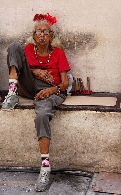 An eccentric Cuban cigar seller in old Havana, Cuba. Picture: Seniz Kanel of London