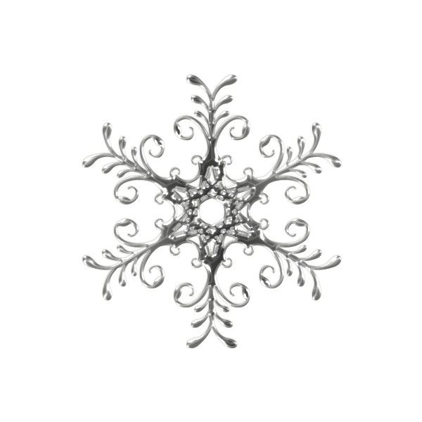 snow flakes ❤ liked on Polyvore