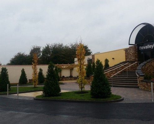 Mature planting scheme to create an instant impact to this hotel entrance in County Tyrone