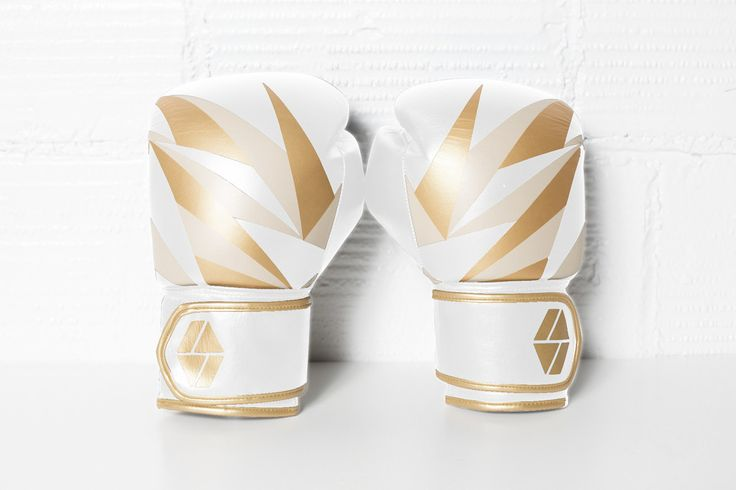 Gold on White Boxing Gloves for the female fighter in your life :)