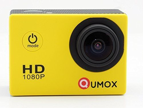 nice QUMOX Actioncam SJ4000, Action Sport camera Camera Waterproof, Full HD, 1080p Video, Helmet camera, Yellow