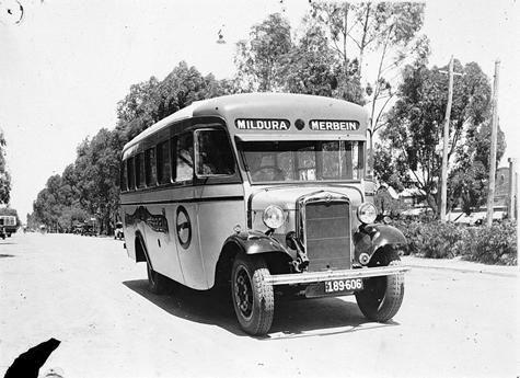 bus between Mildura and Merbein