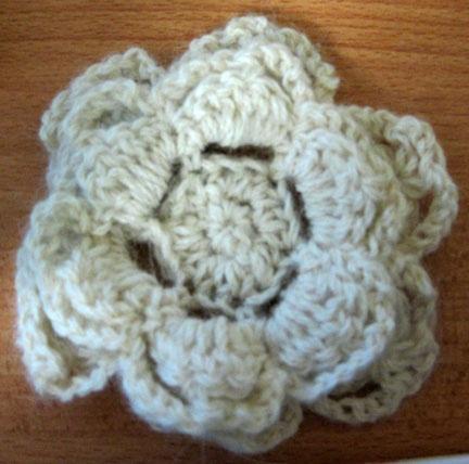 white 6 petal flower Crochet Flowers Pinterest ...