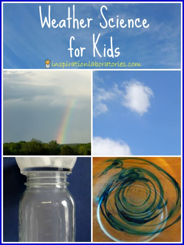 Weather Science for Kids - Lots of fun ideas! Plus join the latest Challenge and Discover - a science challenge to do with your kids!