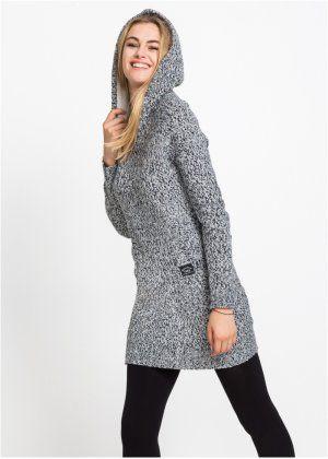 75399dd4c404 Pletené šaty s kapucí s podšívkou