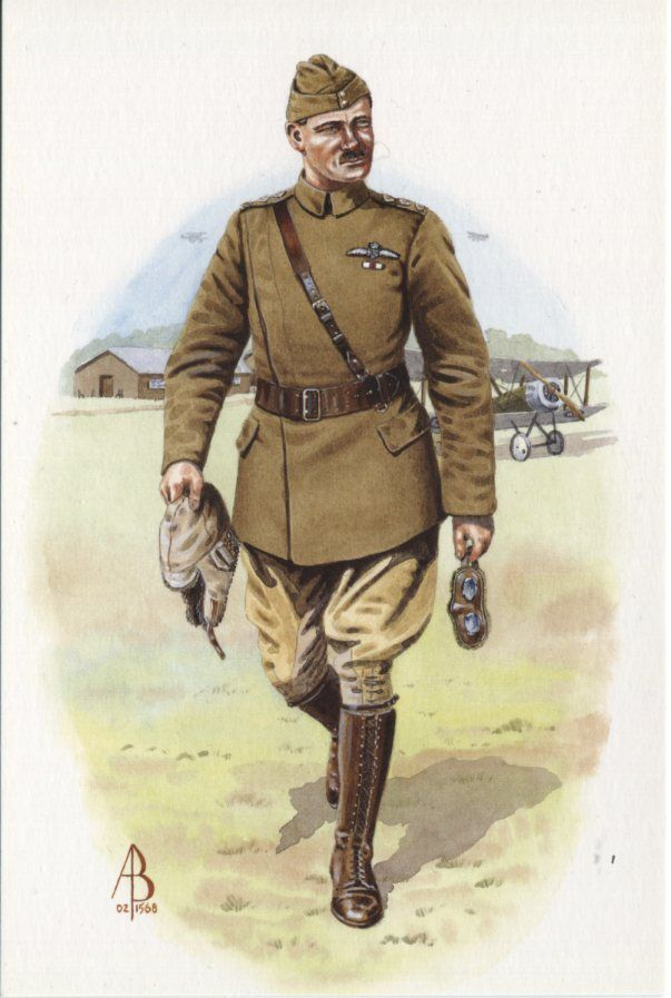 Alix Baker Postcard - AB31/1 Captain Royal Flying Corps c1917 (Sopwith Pup)