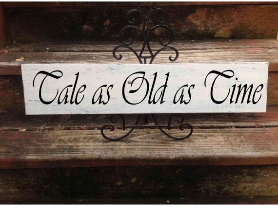 Tale as Old as Time Disney Wedding Sign by CastleInnDesigns