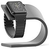 Apple Watch Stand, Aluminum Charging Dock (Space Gray)