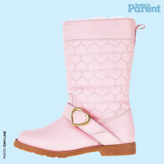 12 cozy winter boots for kids - Pink heart boot, $30, hm.com/ca  #TodaysParent #KidsWinterBoots