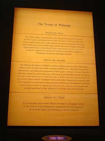 Treaty of Waitangi websites recommended by National Library Service