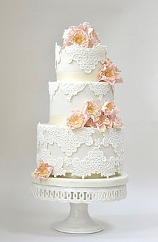cake with lace detailing