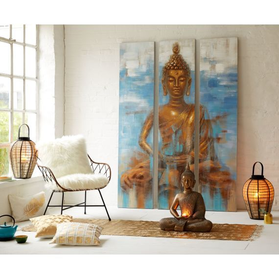 """Mit dem Wandbild-Set """"Buddha"""" holen Sie sich eine kleine Oase der Ruhe und Entspannung in die eigenen vier WändeClick the link now to find the center in you with our amazing selections of items ranging from yoga apparel to meditation space decor!"""