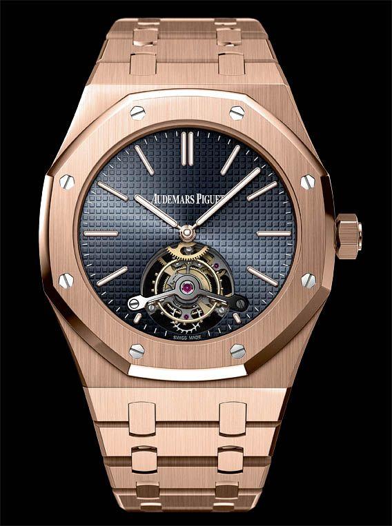 la cote des montres la montre audemars piguet tourbillon royal oak extraplat