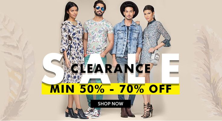 Jabong Clearance Sale - 50 -70% Off on Clothing.